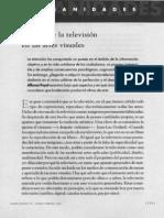 Puyal a. 2001 . El Lugar de La Television en Las Artes Visuales. en Humanidades 73 Enero-febrero 2001