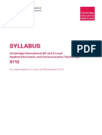 AS/A-Level CIE Applied ICT Syllabus 2014