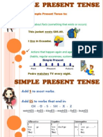 Tenses Chart for Classroom