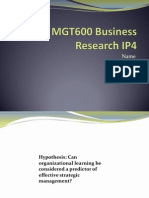 MGT600 Business Research IP4