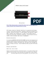 GPS103-A Vehicle GPS Tracker