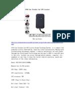 GT02 Car Tracker Car GPS Locator