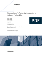 Formulation of a Production Strategy for a Software Product Line