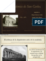 Exposicion Academia de San Carlos Historia