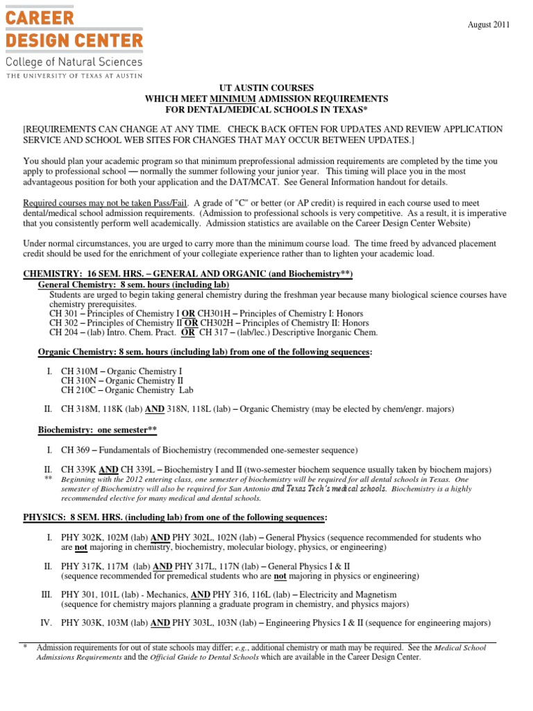 requirements for ut austin Click here for more information about ut austin admissions  students who do  not meet the assured admissions requirements may enter the.