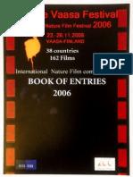Wildlife Vaasa Festival_Book of Entries 2006