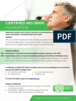 Certified ISO 26000 Foundation - One Page Brochure