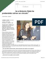 'Con esta vuelta a Antonio Gala he pretendido cerrar un círculo' - Cultura - Diario Córdoba