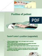 Position of Patient