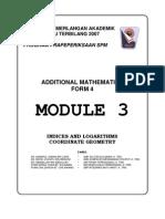 Form 4 - 2007 - Module - Terengganu - Additional Mathematics - 03