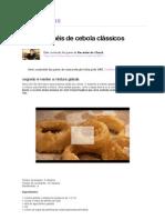 Anéis de cebola clássicos - Receitas GNT