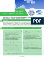 Certified ISO 26000 Lead Implementer - Four Page Brochure
