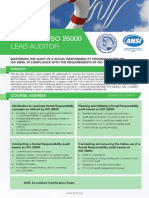 Certified ISO 26000 Lead Auditor - Four Page Brochure
