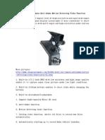 F1000L Mini Car Camera Anti-Shake Motion Detecting Video Function