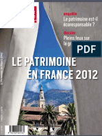 Connaissance Des Arts Hors-Serie 544 Le Patrimoine en France 2012 - Septembre 2012