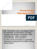 CIHRM  Knowledge Management