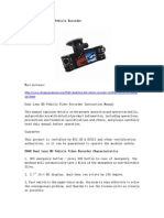 F600 Dual Lens HD Vehicle Recorder