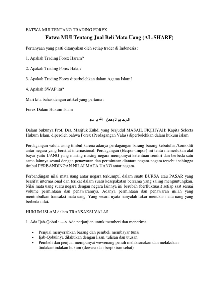 Forex Halal Atau Haram Halaman all - cryptonews.id