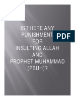 IS THERE ANY PUNISHMENT FOR INSULTING ALLAH AND PROPHET MUHAMMAD (PBUH)?