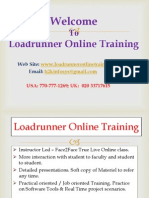 Loadrunner Online Training and Placement