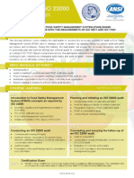 Certified ISO 22000 Lead-Auditor -Two Page Brochure