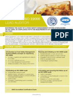 Certified ISO 22000 Lead Auditor - Four Page Brochure