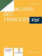 Les valeurs des franciliens