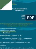 Presentación N°3 PSU De Matemática - Conjuntos Numéricos. Números Enteros y Potencias