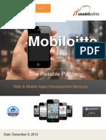 Mobiloitte ! Enterprise Mobile & Web Solutions Corporate Overview