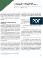 Evaluación del proceso de descentralización en Santiago de Chile