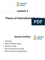 Lecture 2 Theory of International Trade