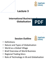 International Business and Globalisation