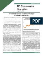 200908 TD Economics - Personal Insolvencies