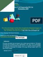 Presentación N°10 PSU De Matemática - Porcentajes
