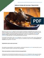 Patatas Asadas en Bolsa de Hornear Guarnicin