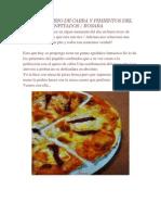 Pizza de Queso de Cabra y Pimientos Del Piquillo Confitados