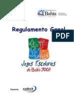 Regulamento Dos Jogos Escolares Da Bahia2008