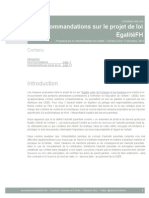 Propositions sur le pdl EgalitéFH - Transmis à la Commission des Lois - Version Publique
