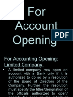 For Accounting Opening