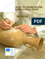 Conservation of Underwater Archaeological Finds Manual