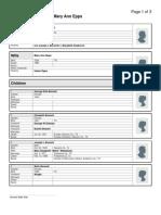 Family Group Sheet of Seaborn J Bennett and Mary Ann Epps