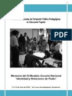 Memoria Escuela Nacional Módulo III 2009