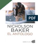 Backer Nicholson - El Antologo