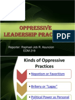 Oppressive Leadership Practices