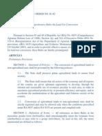 Dar Administrative Order No. 1 Series of 2002