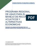 Propuesta de ordenación pesquera para las especies objetivo del Programa Regional de USAID
