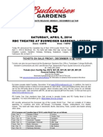 R5 to play RBC Theatre at Budweiser Gardens April 5, 2014