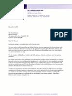 ABL letter to Menard, Director General of Quebec Ministry of Natural Resources