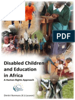 Disabled Children and Education in Africa