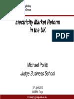 Electricity Market Reform Japan